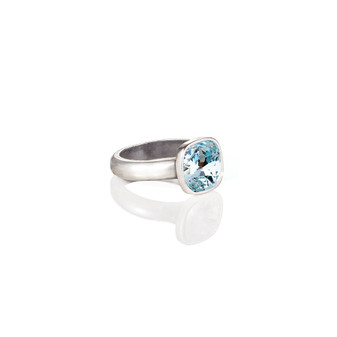 Cushion-Cut Light Azure Ring
