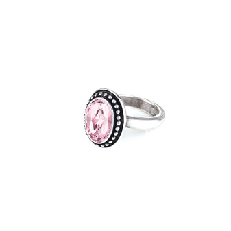 Navaho Oval Light Rose  Ring