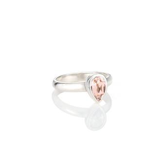 Petite Vintage Rose Teardrop Ring