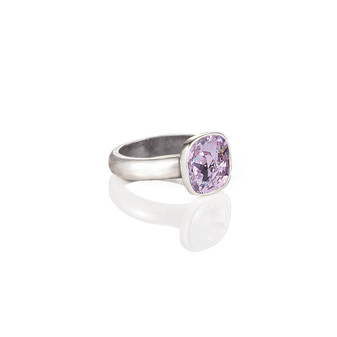 Cushion-Cut Violet Ring
