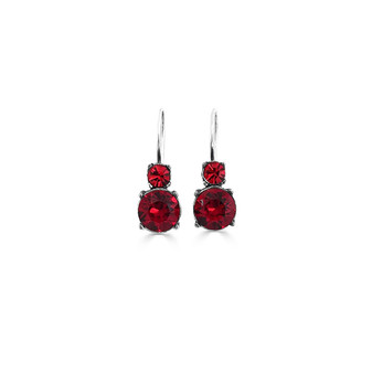 Red Romance Drop Earrings ( E4784 )
