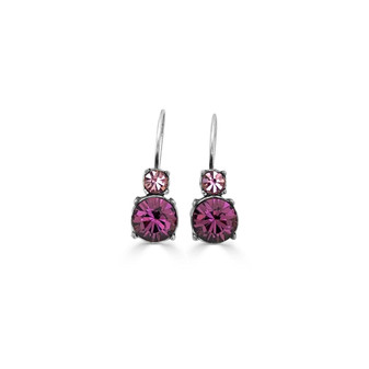 Royal Amethyst Drop Earrings ( E4785 )