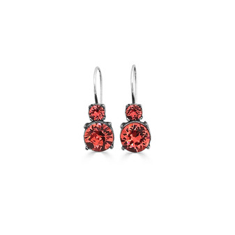 Coral Sangria Drop Earrings ( E4790 )