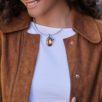 Take Flight Choker Necklace - Burnished Silver / Minimalist / Open Choker / Sleek Collar / Everyday Jewellery