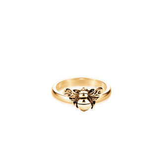 18ct Gold Vermeil Bumble Bee Stacking Ring