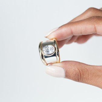 Viva Glam Ring in Sterling Silver 925 and 9ct Gold