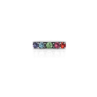 Rainbow Ombre Ring - Sterling Silver 925