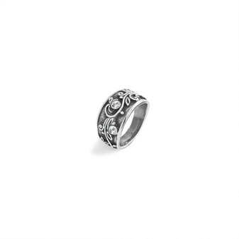 Lily Rose Floral Ring - Sterling Silver 925