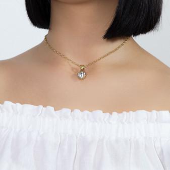 18ct Gold Vermeil Petite Heart Pendant