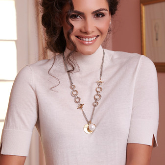 18ct Gold Vermeil Two-Tone Necklace