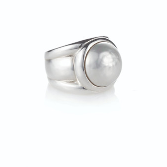 Sterling Silver 925 Classique Mabe Pearl Ring
