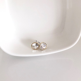18ct Gold-plated Icon Stud Earrings