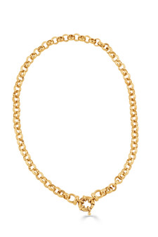 18ct Gold-plated Belcher Chain Necklace