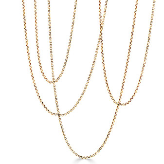 18ct Gold Vermeil Belcher Chain Necklace