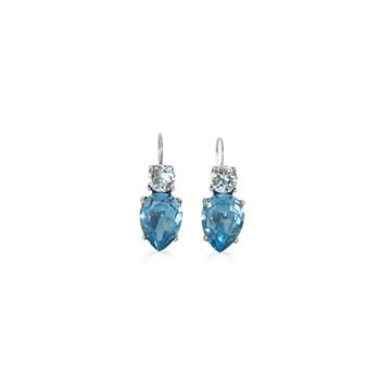 Sunburst Light Azure And Aquamarine Teardrop Earrings
