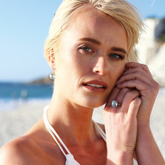 Caprice Gold Drop Earrings - E4913 - $139