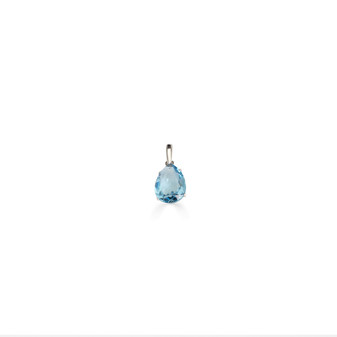 Caprice Aquamarine Sterling Silver Teardrop Pendant
