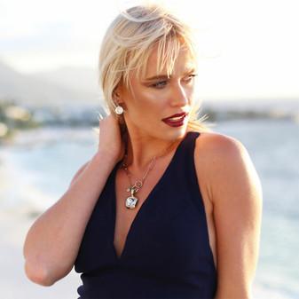 18ct Gold-Plated Bold Glam Rock Earrings - E4694 - $99 Hello Sunshine Pendant - EN1873 - $149