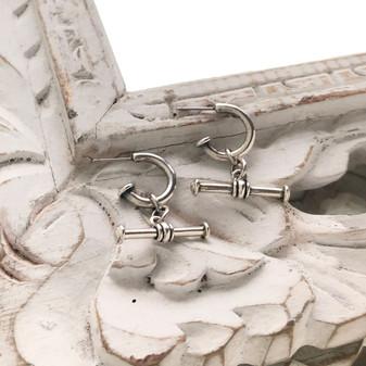 Nautical Rope T-Bar Drop Earrings
