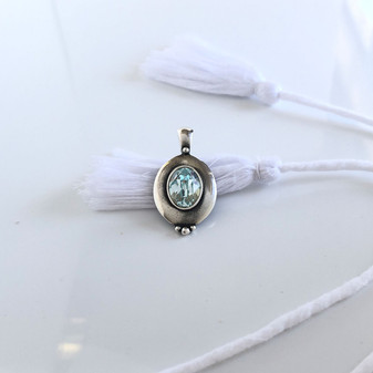 Ocean Drop Light Azure Oval Pendant