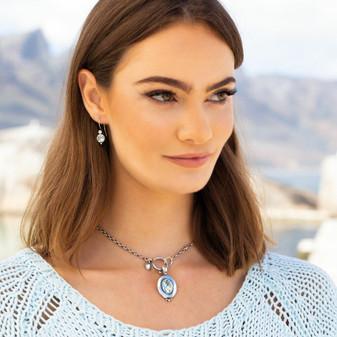 Divinely Cool Drop Earrings - E3334 - $39 Ocean Drop Light Azure Oval Pendant - EN1874 - $59