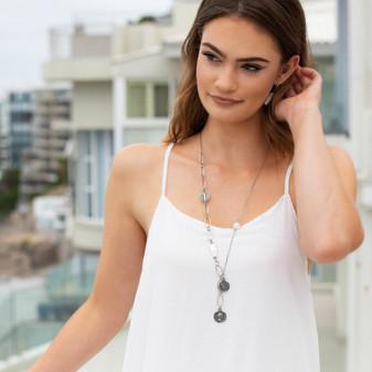 Beach Vibe Biwa Pearl Thread Earrings - E4924 - $59