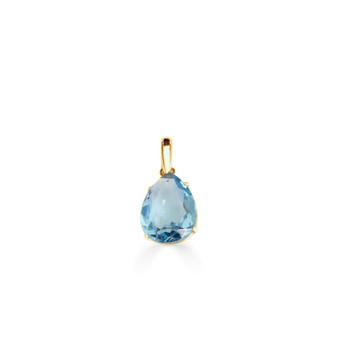 Caprice Aquamarine Gold Vermeil Teardrop Pendant