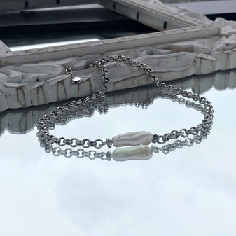 Wanderlust Pearl Chain Necklace