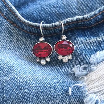 Feel Good Scarlet Drop Earrings