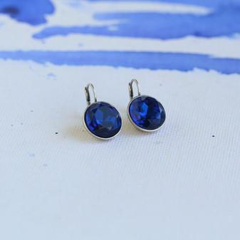 Indigo Sapphire Crystal Drop Earrings