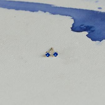 Petite Sterling Silver Sapphire Cornflower Blue Earrings