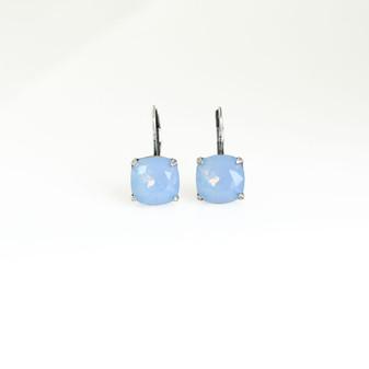 Air Blue Opal Claw-set Drop Earrings