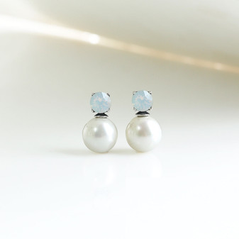 White Opal Magic Earrings