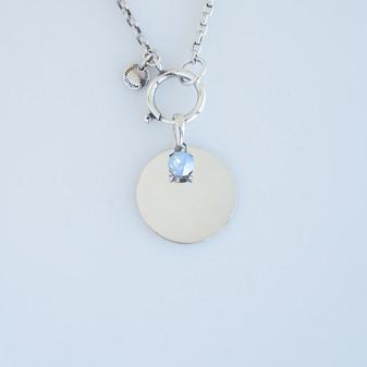 Air Blue Opal Magic Pendant Set