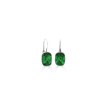 Bold Willow Green Drop Earrings