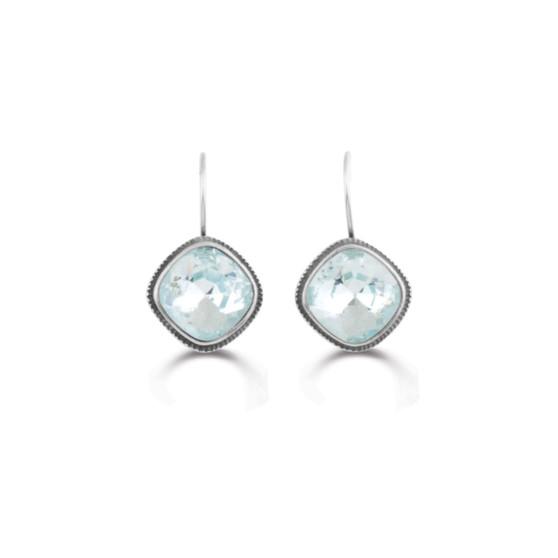 Ice Blue Drop Earrings (E3168)-$59
