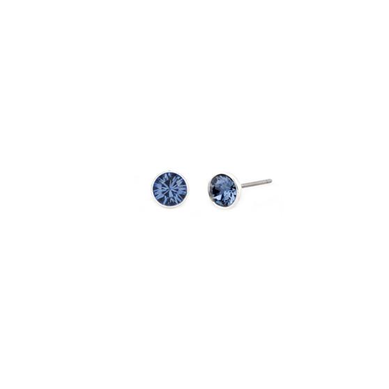 Denim Lily Rose Stud Earrings (E3312)-$29