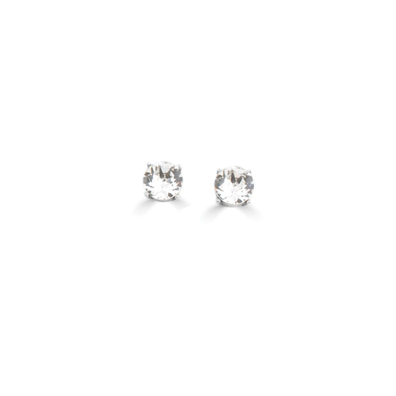 Bold Solitaire Stud Earrings