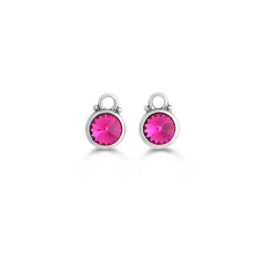 Hot Fuschia Earring Charms (E4074)