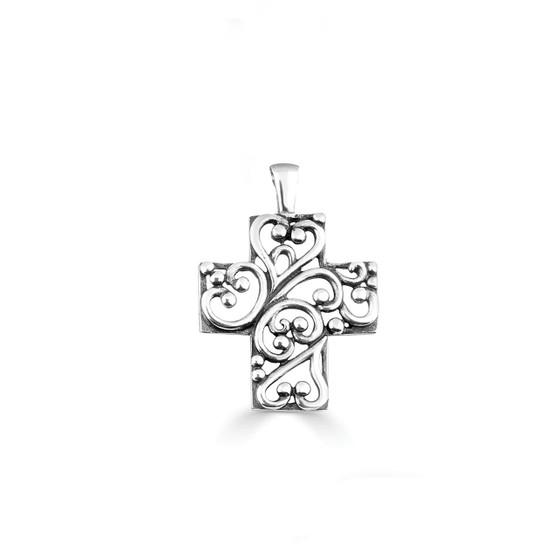 Paisley Cross Pendant (EN1106)-$49