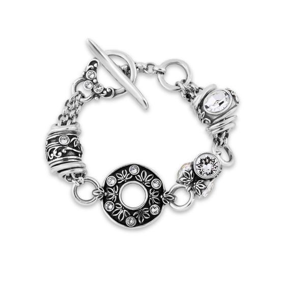 Lily Rose Floral Bracelet (B1501)-$99