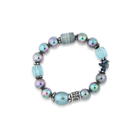 Aruba Blue Stretch Bracelet (B1522)