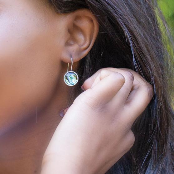 Teal Eco-Glam Earrings (E4446)