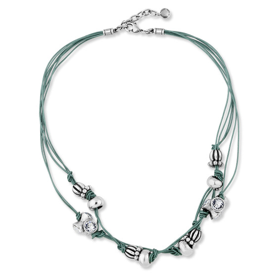 Teal Eco -Glam Necklace (N2003)