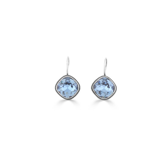 Geometric Denim Drop Earrings (E4459)