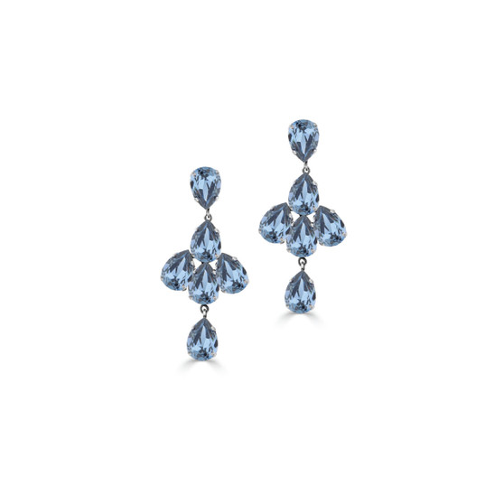 Shine On Denim Drop Earrings (E4464)