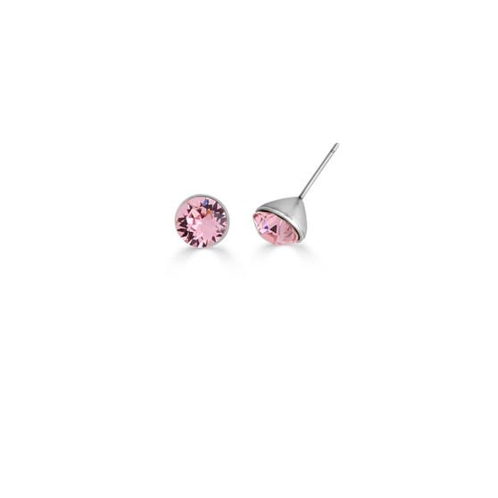 Light Rose Icon Stud Earrings (E4499)