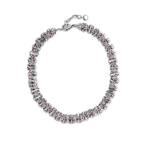 Light Rose Pink Dazzling Necklace (N2023)