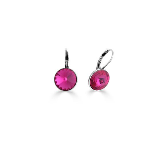 Hot Fuschia Drop Earrings (E4489)