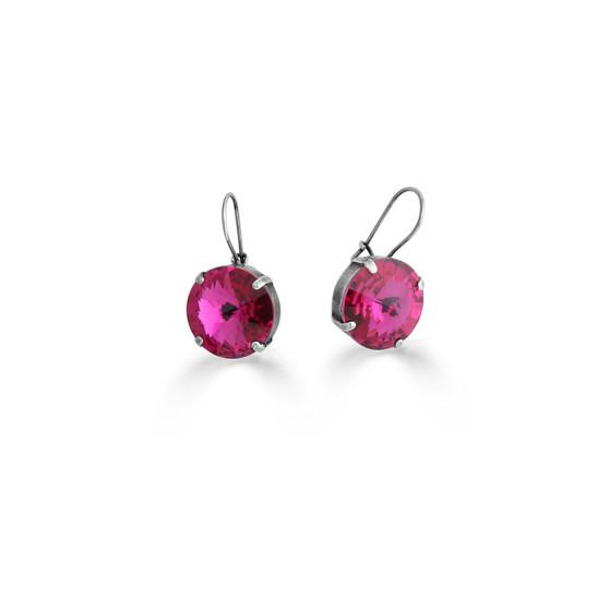Bold Hot Fuschia Drop Earrings (E4492)